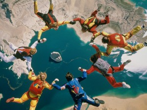 sky-diving teamwork teen challenge elp